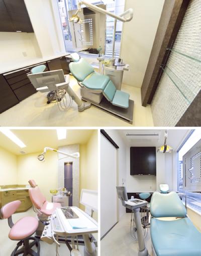 清潔に保たれた完全個室の診療ブース